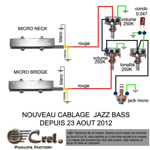 Schema Elettrico Jazz Bass : Cablage jazz bass